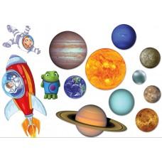 """Фетр с рисунком """"Планеты солнечной системы"""""""
