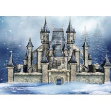 """Ткань для липучки с рисунком """"Зимний замок"""""""