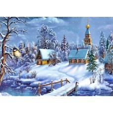 "Ткань для липучки с рисунком ""Зимняя сказка"""