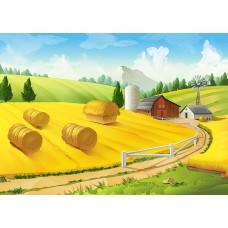 """Велкроткань с рисунком """"Осеннее поле"""""""