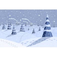 """Ткань для липучки с рисунком """"Зима"""""""