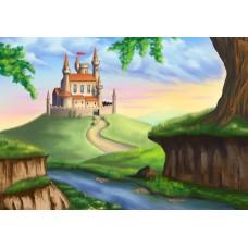 """Велкроткань с рисунком """"Замок"""""""