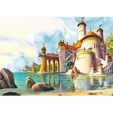 """Велкроткань с рисунком """"Замок на воде"""""""