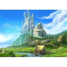 """Велкроткань с рисунком """"Замок пони"""""""
