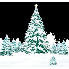 """Фетр с рисунком """"Зима"""""""