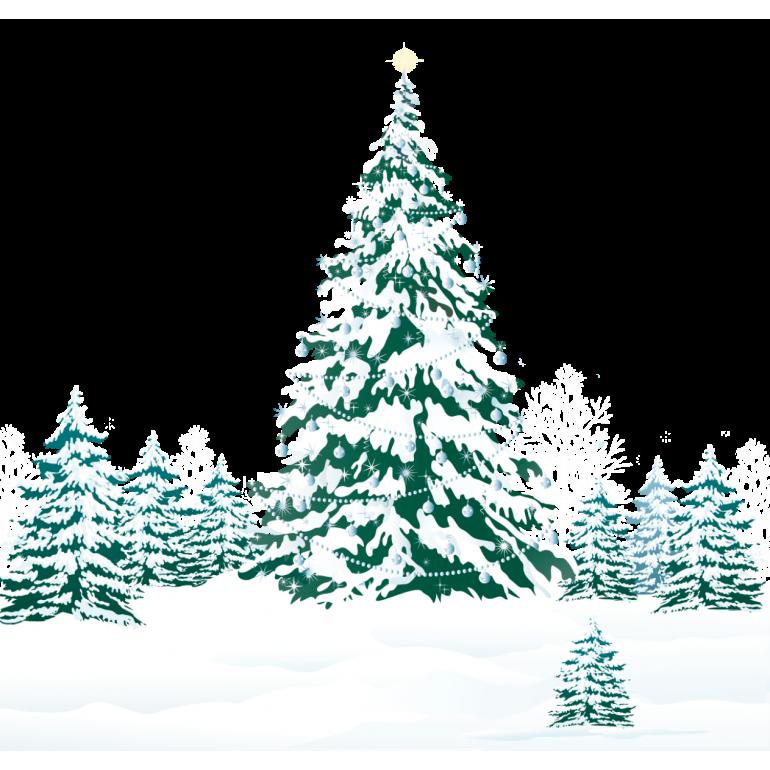 Зимние елки картинки нарисованные