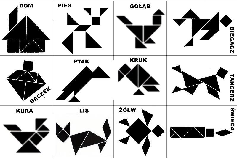 Фигуры из танграма картинки